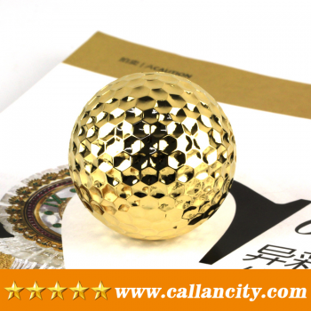 Callancity High Quality Solid Metal 24kt Gold Plated Golf Ball
