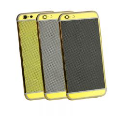 For iPhone 6 housing back cover carbon fiber material gold plating