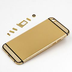 luxury iPhone 6s 24k gold housing with side diamonds