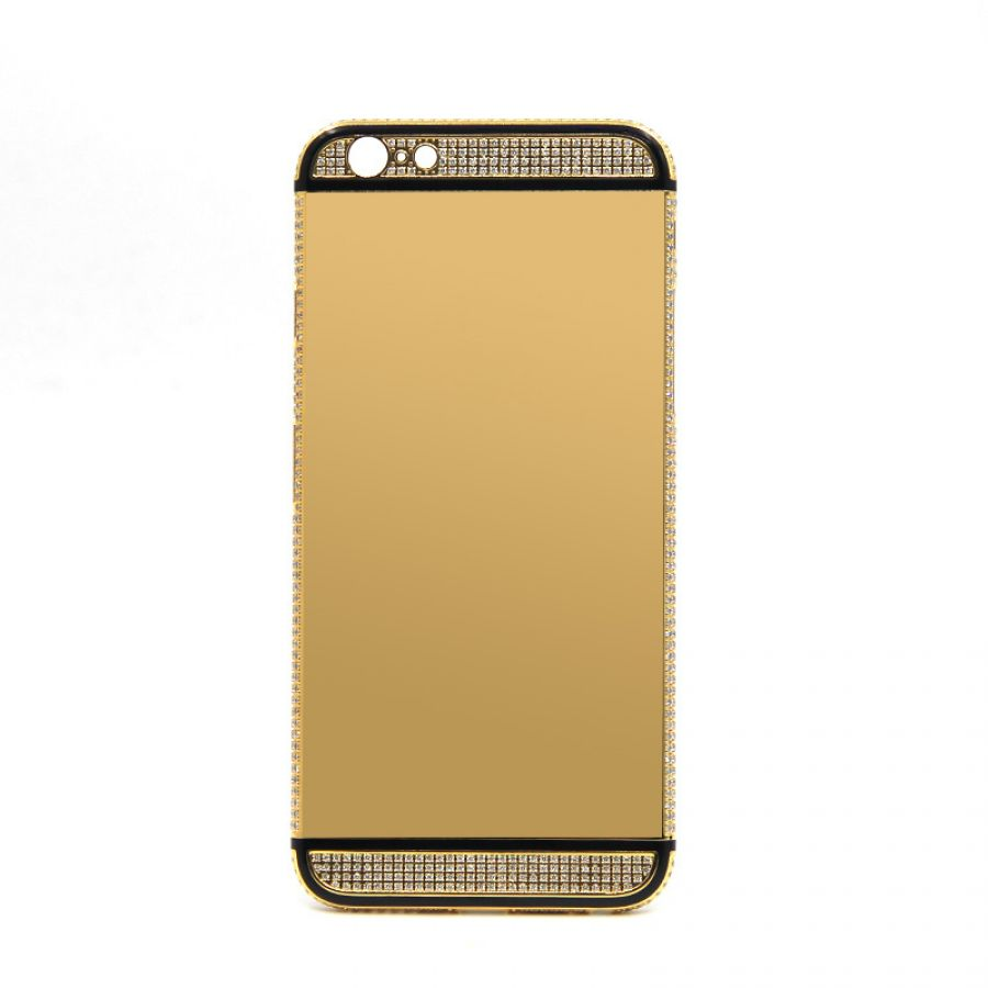 24k Gold Iphone 6 Housing Side With Diamonds Case Casing Glossy Diamond 6s Plus 7