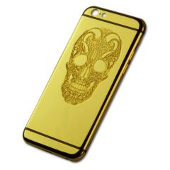 24k gold iPhone 6 back housing with skull design