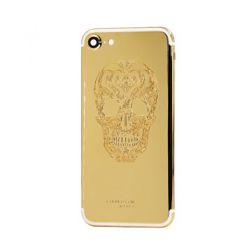 iPhone 7 gold 24k housing with skull design