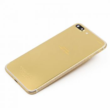 Mobile phone 24k iphone 7plus gold crystal housing