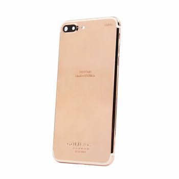 iPhone 7plus shiny 18kt rose gold plated battery housing