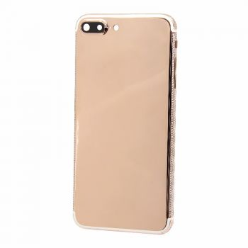 iPhone 7Plus 18Kt rose gold housing cover with diamonds