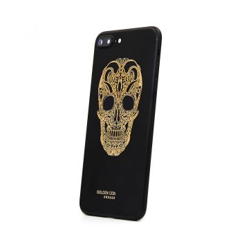 iPhone 7 Plus matte black housing replacement skull design