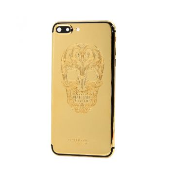 iphone 7plus gold 24k housing with skull design