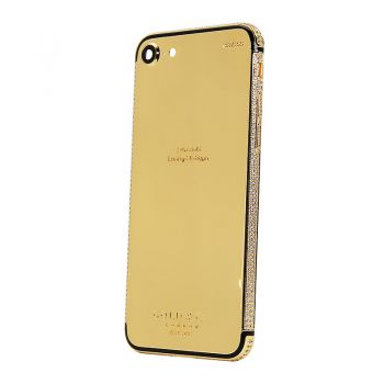 iPhone 7 shiny gold 24kt gold limited edition with diamonds
