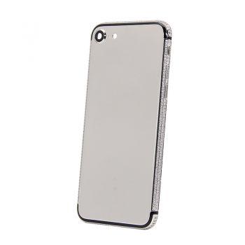 iPhone 7 shiny platinum back housing with diamonds