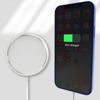 Compatible with Mag-Safe Charger, Magnetic Wireless Charger Auto Aligned Fast Charging, Compatible for iPhone 12 Series 2020 Model (white)
