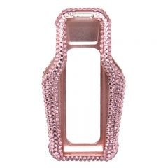 LCD screen pink crystal cover car key case For BMW