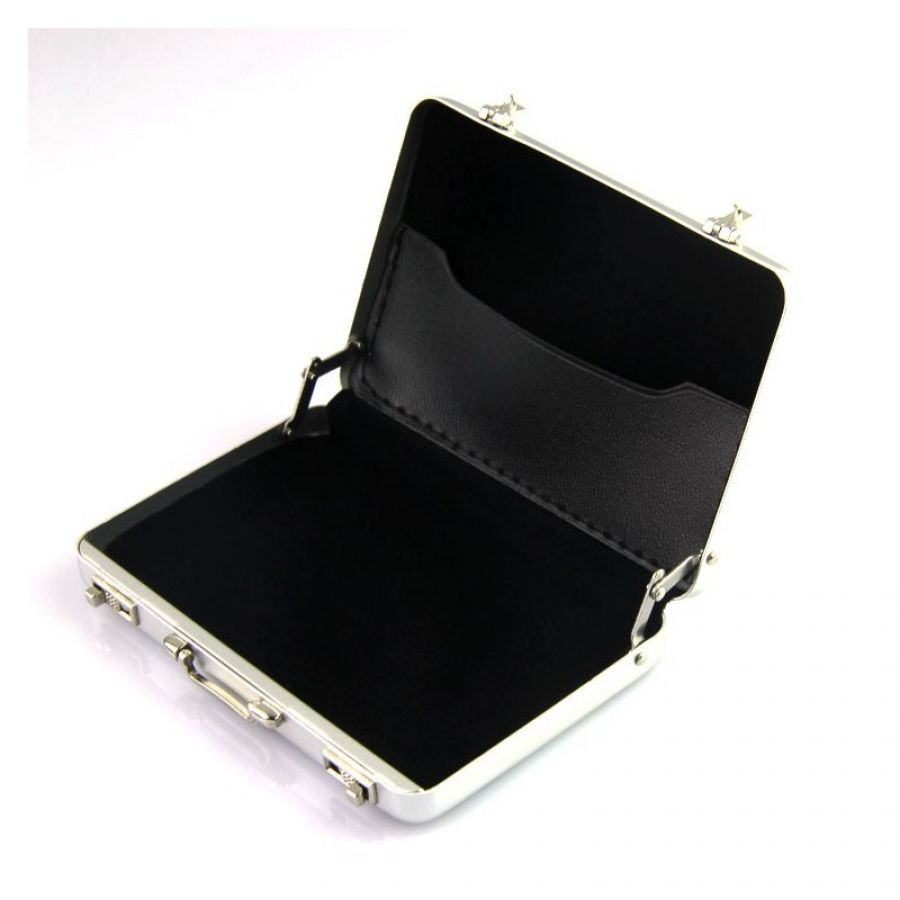 New Mini Aluminum Briefcase business card holder
