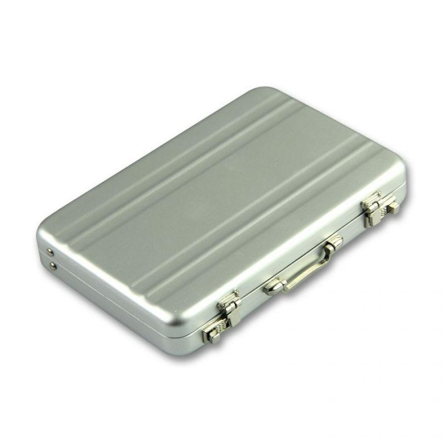 New Mini Aluminum Briefcase business card holder