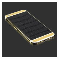 iPhone 6s Plus 24kt gold plated housing with Croco leather