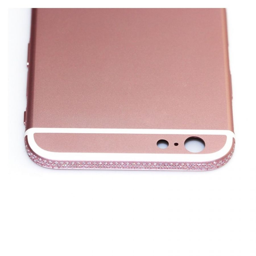 official photos 9480b 40bae Custom iphone 6s housing pink color back cover with diamond
