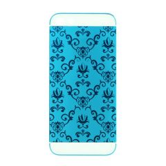 Matte blue iPhone 5 5s SE delicate pattern housing