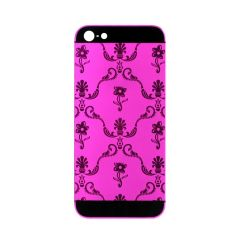 Matte hot pink iPhone 5 5s SE housing flower design No 3