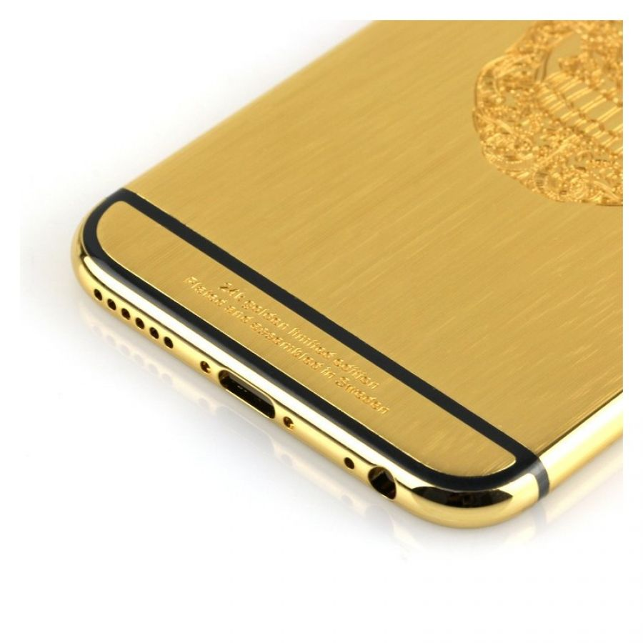 best service 79116 cad7f 24k brushed gold iPhone 6s housing with skull design