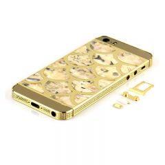 Fish pattern iPhone 5 shell housing side with diamonds