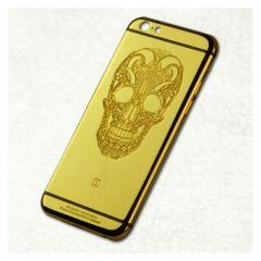 Luxury skull design housing for iphone 6s 24 k