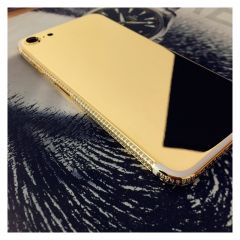 iPhone 7 24kt gold housing with crystals