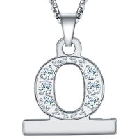 2in1 Zircon Alphabet Letter A-Z Necklace Pendant Watch Connector Adapter Stainless Steel Chain With Diamond Compatible For Watch Series 5/4/3/2/1
