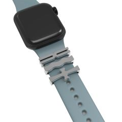 Unique Cross design Ring Loops For Watch Band Strap Adornment For Smart Watch Rubber Sport Band Charm
