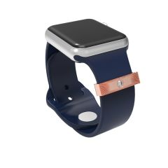 Smart Watch Rubber Sport Band For Fitbit Watch Adornment Decorative Ring Loops For Iwatch Strap Charm 38mm40mm42mm44mm