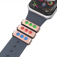 Smart Watch Rubber Sport Band Adornment Decorative Ring Loops For Watch Band Strap Charm