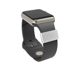 Decorative ring loops for watch band strap charm adornment for Smart watch rubber sport band