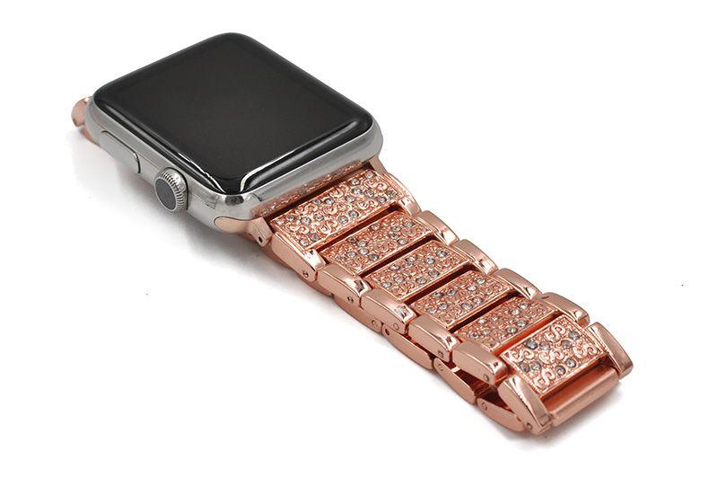 4b9aee8608 bracelet styled diamond metal band for apple watch